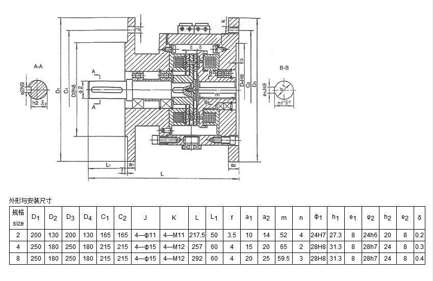 DLZ6系列电磁离合制动器